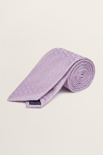 Pink Paisley Silk Tie