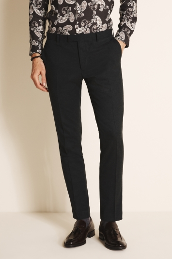 Moss London Slim Fit Forest Flannel Trousers
