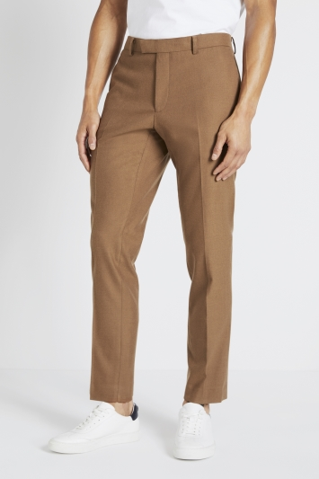 Moss London Slim Fit Chestnut Trousers