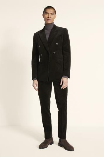 Slim Fit Olive Corduroy Jacket