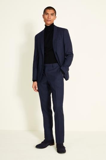 DKNY Slim Fit Navy Check Jacket
