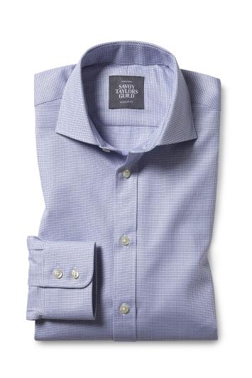 Regular Fit Purple Dobby Shirt