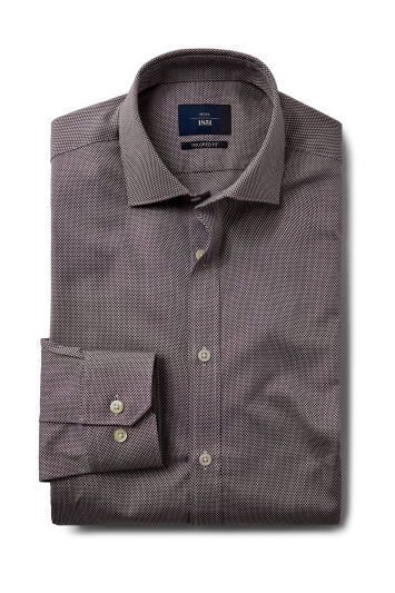 Tailored Fit Wine Dobby Shirt