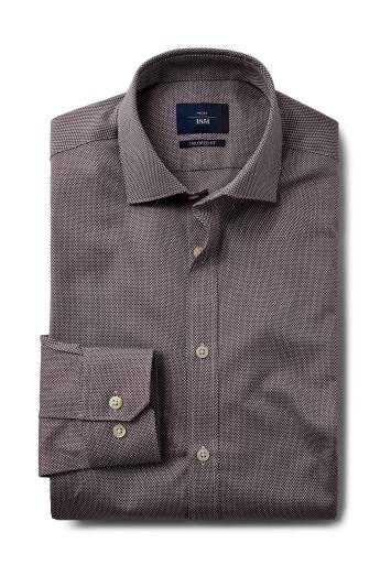 Tailored Fit Wine Dobby Shirt