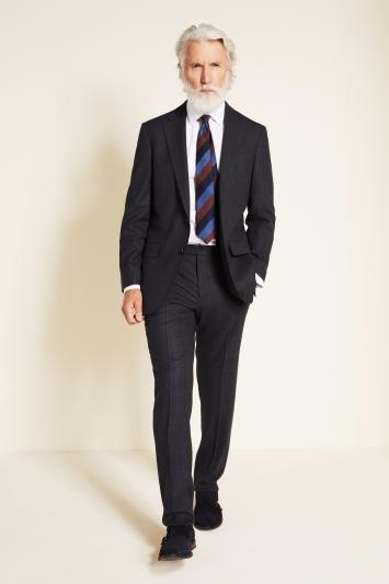 Ermenegildo Zegna Cloth Tailored Fit Grey Windowpane Jacket