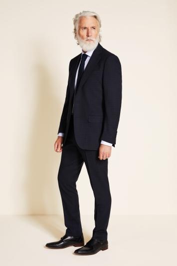 Ermenegildo Zegna Cloth Tailored Fit Navy Semi Plain Jacket