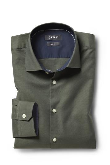 Slim Fit Green Oxford Shirt