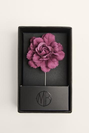 Moss Bros. Mulberry Flower Lapel Pin
