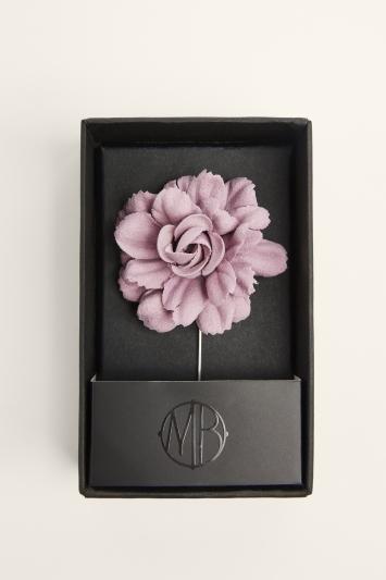 Moss Bros. Dusty Pink Flower Lapel Pin