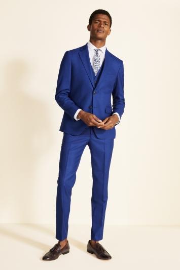 Moss London Slim Fit Cobalt Blue Jacket