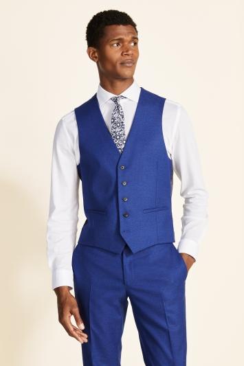 Moss London Slim Fit Cobalt Blue Waistcoat