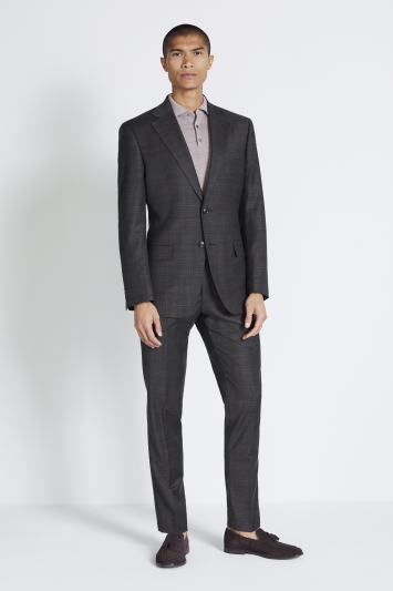 Moss 1851 Performance Tailored Fit Grey Check Jacket