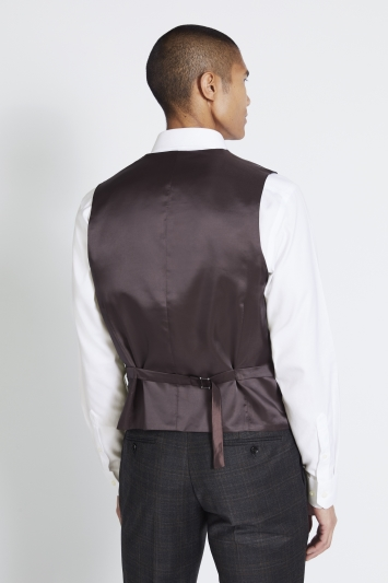 Moss 1851 Performance Tailored Fit Grey Check Waistcoat