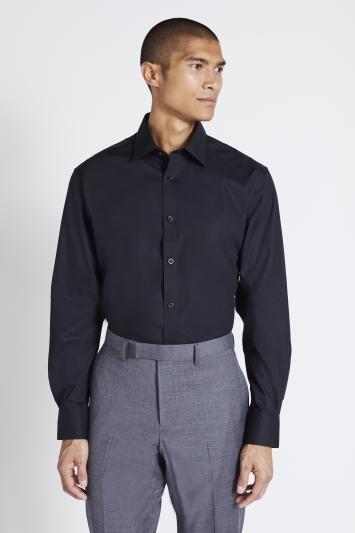 Regular Fit Black Non Iron Shirt