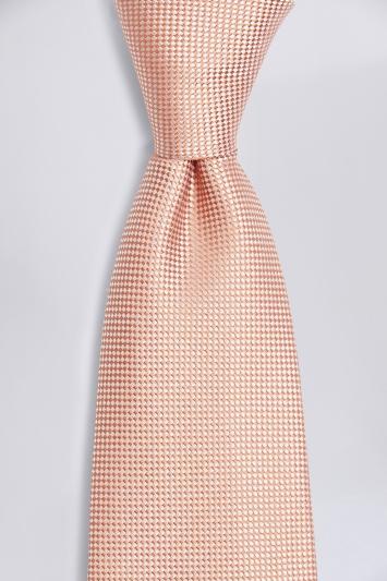 Canteloupe Natte Silk Tie