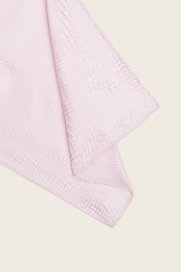 Moss 1851 Pink Plain Natte Silk Pocket Square