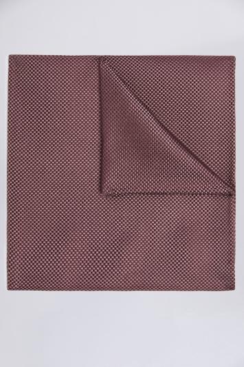 Moss 1851 Mulberry Plain Natte Silk Pocket Square