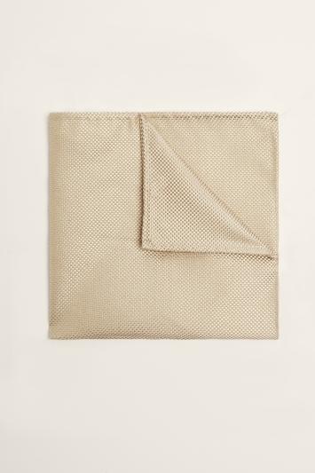 Moss 1851 Gold Plain Natte Silk Pocket Square