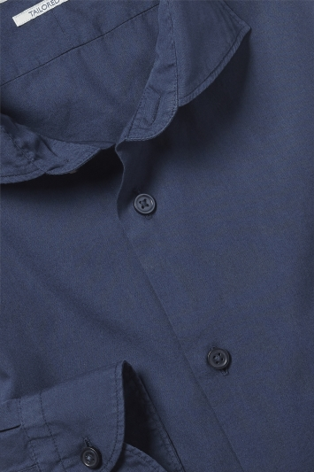 Tailored Fit Navy Garment Dye Shirt