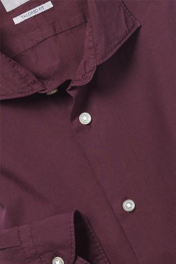 Tailored Fit Berry Garment Dye Shirt