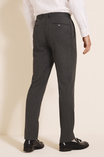 French Connection Slim Fit Charcoal Flannel Trousers