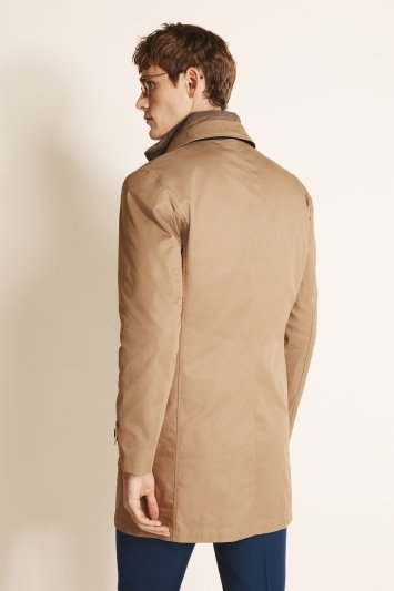 Tailored Fit Stone Raincoat