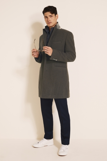 Moss 1851 Tailored Coffee Epsom with Insert Overcoat