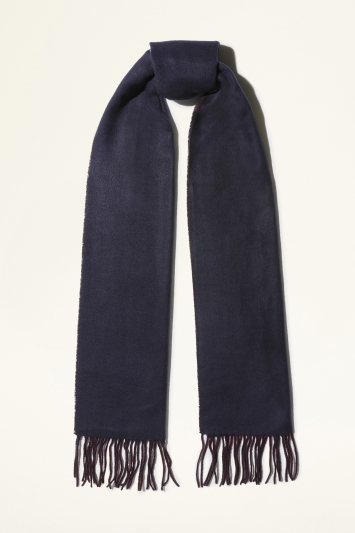 Navy & Burgundy Double-Sided Scarf