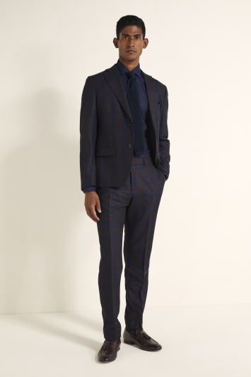 Tailored Fit Navy with Red Check Jacket
