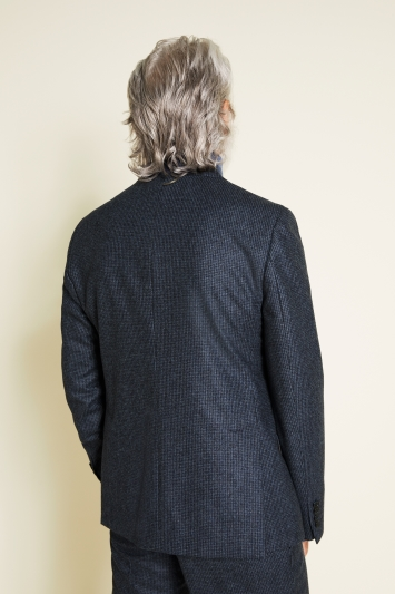 Tailored Fit Blue Puppytooth Jacket