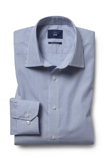 Regular Fit Navy Check Twill Shirt