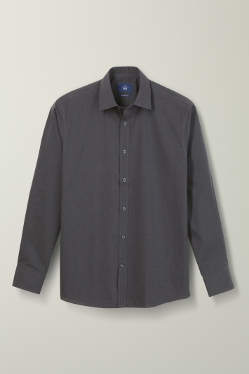 Regular Fit Brown End on End Shirt