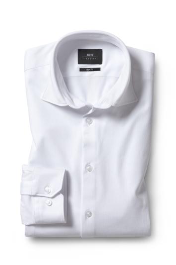 Slim Fit White Comfort Stretch Shirt