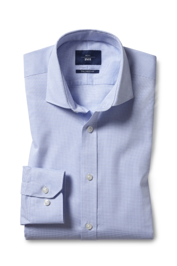 Tailored Fit Sky Dobby Non Iron Shirt