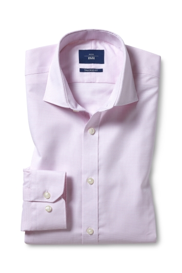 Tailored Fit Pink Dobby Non Iron Shirt