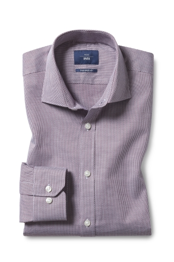 Tailored Fit Red Dobby Non Iron Shirt