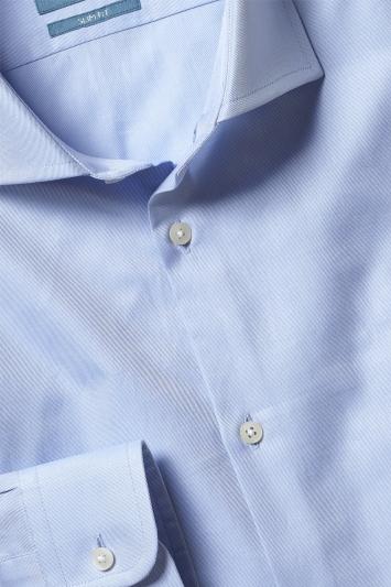 Slim Fit Sky Canclini Twill Shirt
