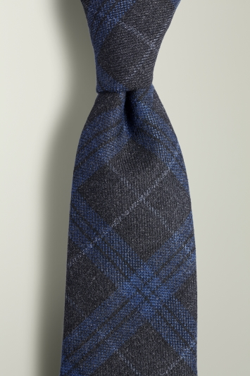 Navy with Blue Check Tie