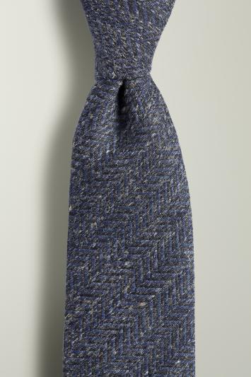 Navy & Grey Herringbone Tie