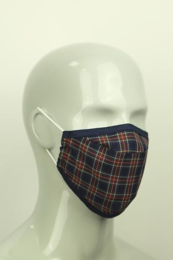 Moss Navy Tartan Mask
