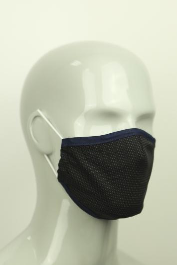 Moss Navy Micro Dot Mask