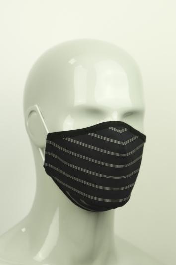 Moss Navy Pinstripe Mask