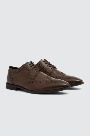 Moss London Deakin Brown Brogue Shoe