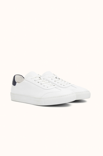 Dalston White Leather Smart Trainer