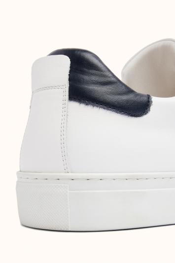 Dalston White Leather Smart Trainer
