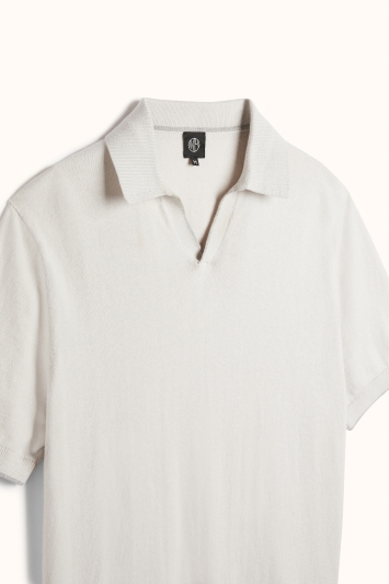 Off White Cotton-Cashmere Polo Shirt