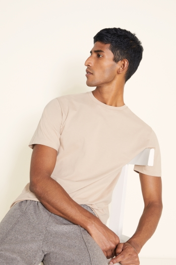 Taupe Crew-Neck T-Shirt