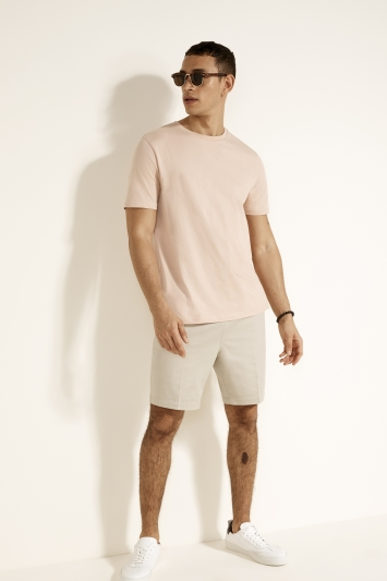 Dusty Pink Crew-Neck T-Shirt