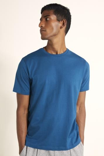 Steel Blue Crew-Neck T-Shirt