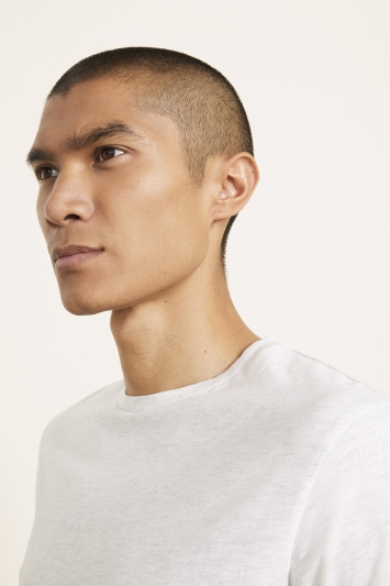 Light Grey Marl Crew-Neck T-Shirt